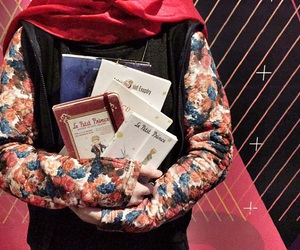 book, we heart it, and hijab image