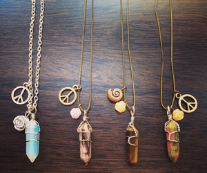 bohemian, chain, and crystal image