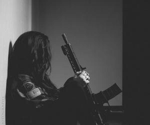 gun and black image
