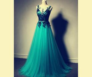 a-line, evening dress, and prom dress image