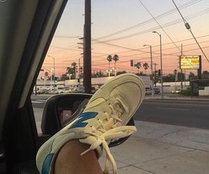new balance, sky, and tumblr image