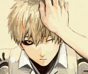 anime, genos, and one punch man image