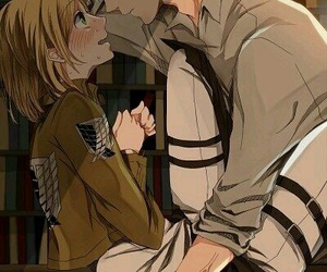 anime, couple, and girl image