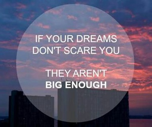 Dream, big, and scare image