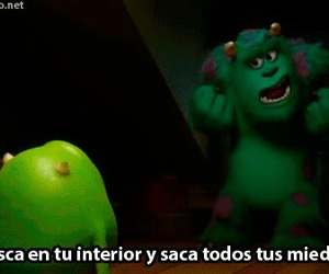 monsters inc, monsters university, and frases image