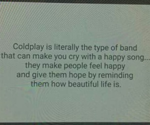 coldplay, music, and words image