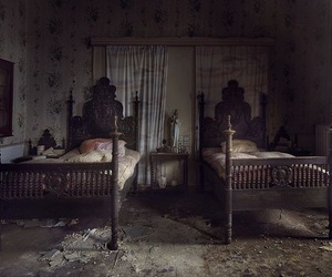 abandoned, bed, and creepy image