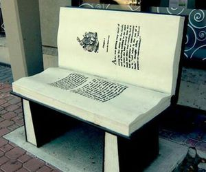 book and bench image