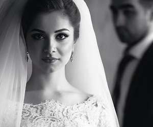 bride, wedding, and girl image