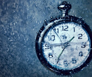clock, time, and water image