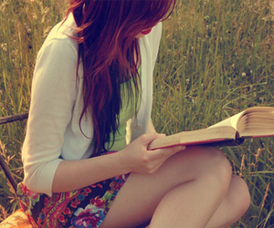 book, farm, and girls image