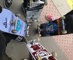skate, skateboard, and vans image