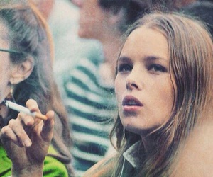 michelle phillips, cigarette, and 60s image