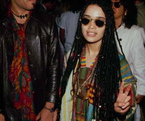 lenny kravitz, lisa bonet, and 90s image