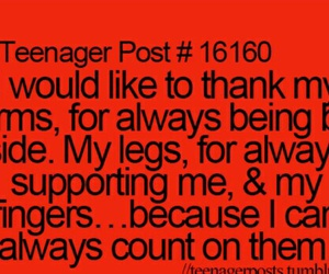 teenager post, funny, and arms image