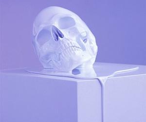 purple, skull, and aesthetic image