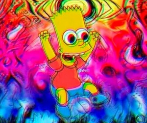 bart, simpsons, and drugs image