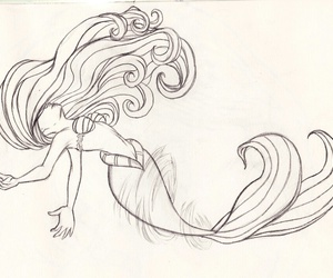 disney, drawing, and little mermaid image
