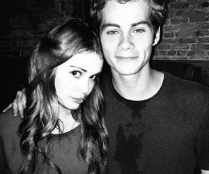 dylan o'brien, stydia, and teen wolf image