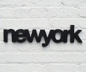 new york, black, and city image