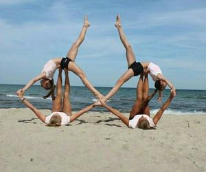 gymnastics, acrogym, and acrobatiek image