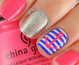 manicure, pink, and nail art image