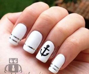 nail art, nails, and white image