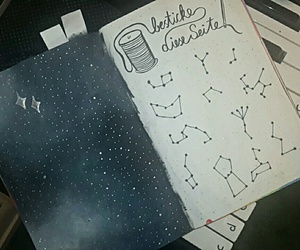 constellations, galaxy, and sky image