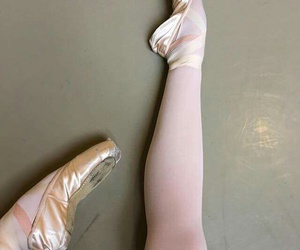 ballet, ballet shoes, and legs image