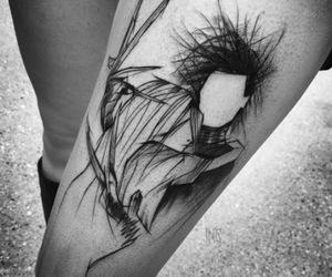 edward scissorhands, tattoo, and grunge image