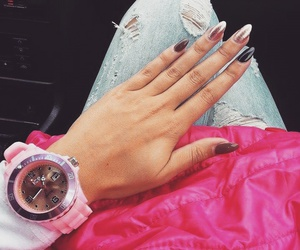 nails, nails style, and watch image