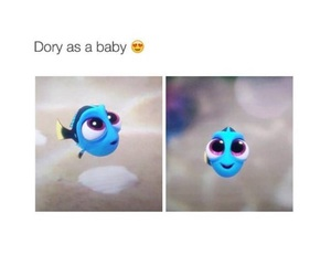 dory, baby, and disney image