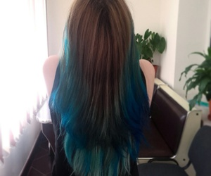 blue, blue hair, and colour image