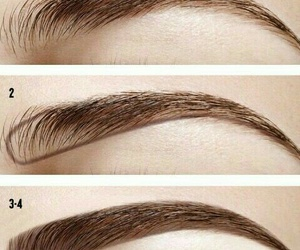 eyebrows, tutorial, and make up image