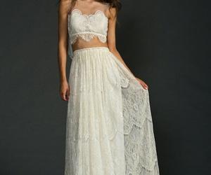 beautiful, boho, and wedding dress image