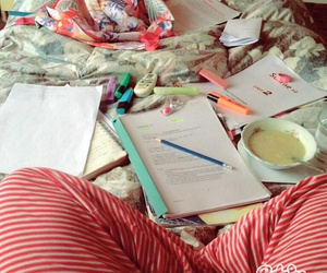 clown, exams, and study image