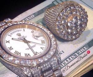diamond, watch, and money image