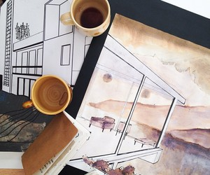 coffee, art, and drawing image