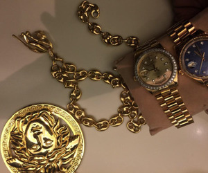 gold, luxury, and Versace image