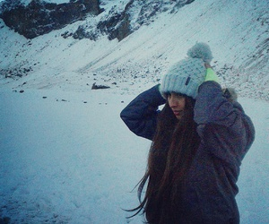 girl, winter, and coold image