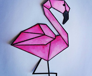 bird, drawing, and geometry image