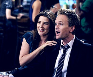 how i met your mother, barney, and robin image