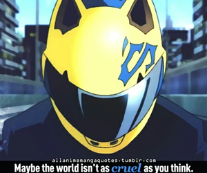quote, anime, and durarara image