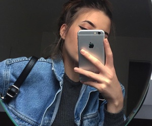 girl, iphone, and tumblr image