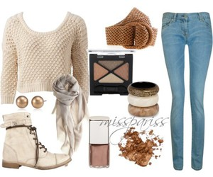 brown, Polyvore, and jeans image