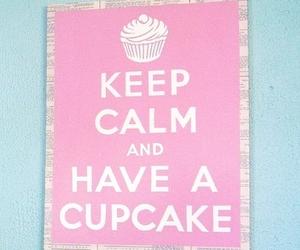 cupcake, keep calm, and pink image