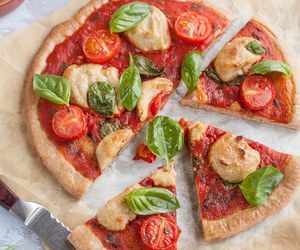 pizza and vegan image