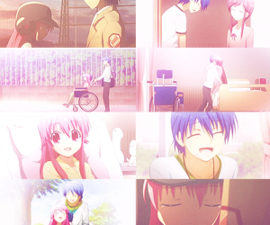 yui, hinata, and angel beats image