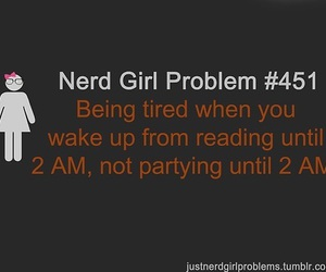 nerd, book, and girl image