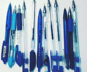 blue, office, and pen image